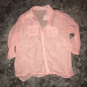 Maurice's light pink shear top